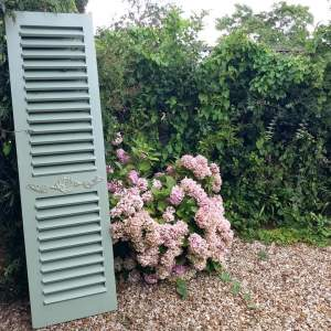 Pair of 7ft French style Shutters in Sage Green