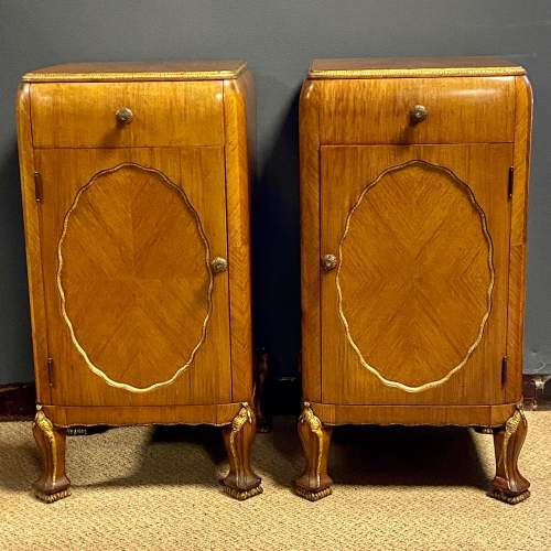 Pair of Quality Art Deco Bedside Cabinets image-1