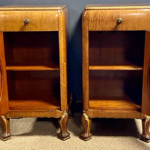Pair of Quality Art Deco Bedside Cabinets image-2