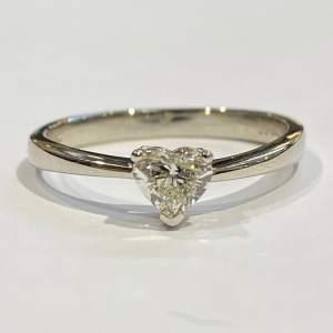 Heart Shaped Natural Diamond Ring