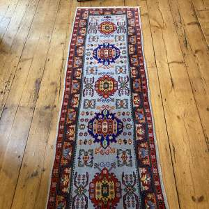 Old Hand Knotted Runner Azerbaijan
