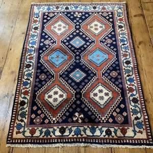 Superb Hand Knotted Persian Rug Yalamah Wonderful Geometric Design