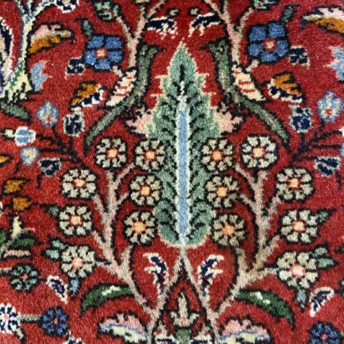 Superb Old Hand Knotted Persian Rug Hamadan Floral Bird Design image-3