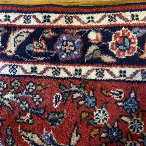 Superb Old Hand Knotted Persian Rug Hamadan Floral Bird Design image-6