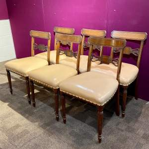 Set of Six Mahogany George IV Style Dining Chairs