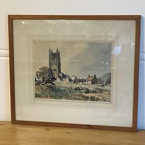 R Wilson Watercolour Weston near Instow North Devon