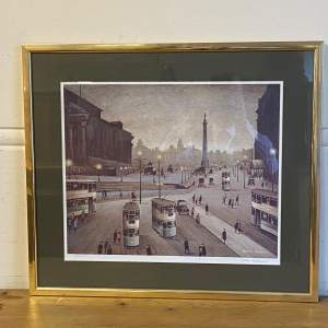 Arthur Delaney Signed Limited Edition Print Lime Street Liverpool