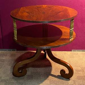 Rare 19th Century Rosewood Two Tier Table