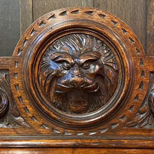 19th Century Carved Oak Side Table image-2