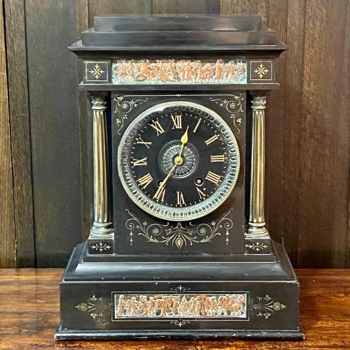 19th Century French Three Piece Clock Garniture De Cheminee image-3