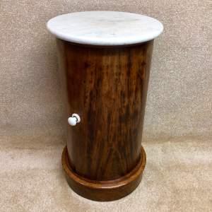 19th Century Mahogany Cylinder Pot Cupboard