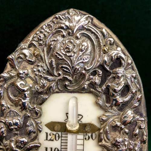 19th Century Silver Desk Thermometer By William Comyns image-3