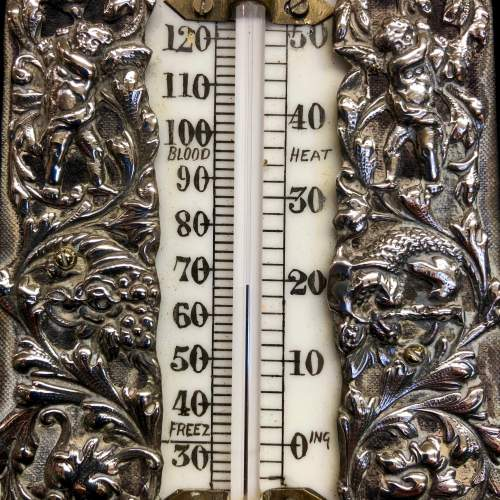 19th Century Silver Desk Thermometer By William Comyns image-4