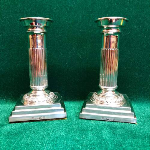Pair of Victorian Silver Candlesticks London 1894 image-2