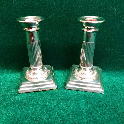 Pair of Victorian Silver Candlesticks London 1894 image-3