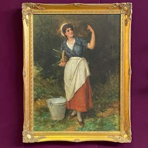 The Milk Maid Quality Oil on Canvas Painting