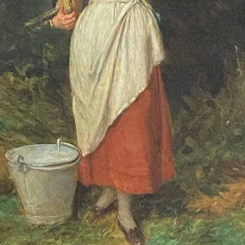 The Milk Maid Quality Oil on Canvas Painting image-3