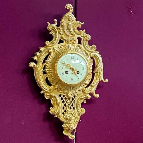Good Quality Ormolu Cartel Wall Clock image-1
