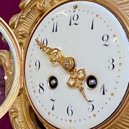 Good Quality Ormolu Cartel Wall Clock image-4