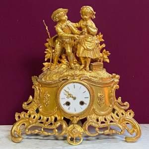 Good Quality French Ormolu Mantel Clock
