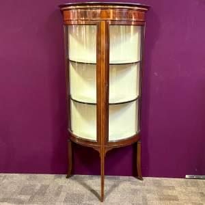 Fine Quality Mahogany Demi Lune Display Cabinet