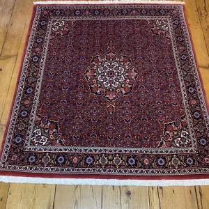 Stunning Hand Knotted Persian Rug Kashan Floral Medallion