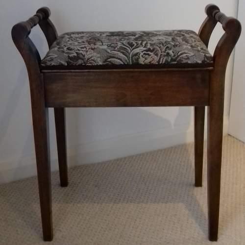 Edwardian Beech Piano Stool image-1