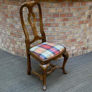 Early 18th Century Style Walnut Side Chair