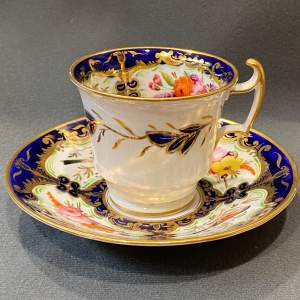 19th Century Coalport Cup and Saucer