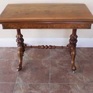 Victorian Fold Over Card Table