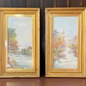Pair of 20th Century Watercolours by S.H. Matsumoto
