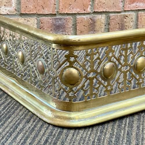 Victorian Brass Fire Fender image-3