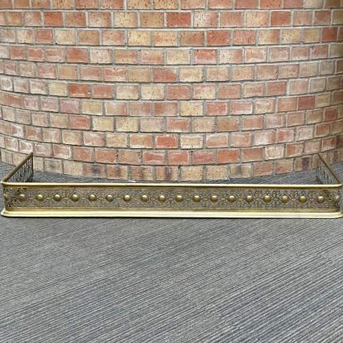 Victorian Brass Fire Fender image-2