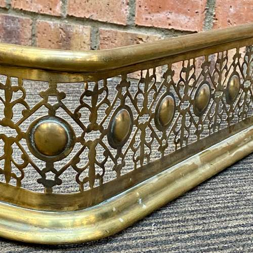 Victorian Brass Fire Fender image-1
