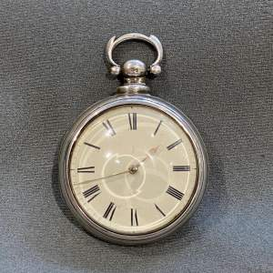 Quality Antique Silver Pair Cased Pocket Watch