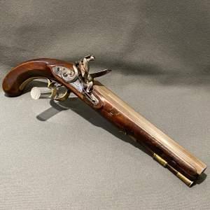 Early 19th Century Flintlock Officers Pistol by Knubley
