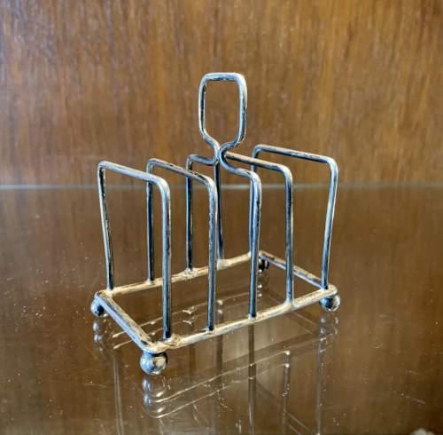 Edwardian Silver Toast Rack image-1
