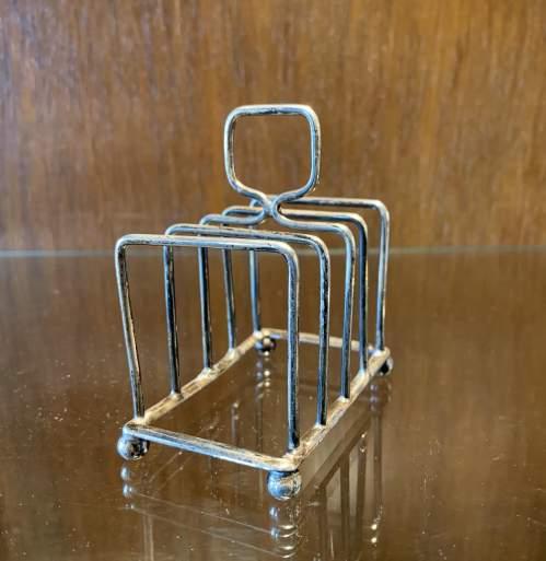 Edwardian Silver Toast Rack image-2