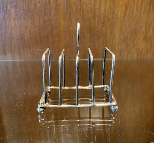 Edwardian Silver Toast Rack image-3
