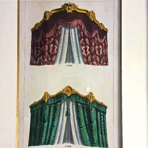 19th Century Furniture and Interior Lithograph by Leopold Marsaux image-2
