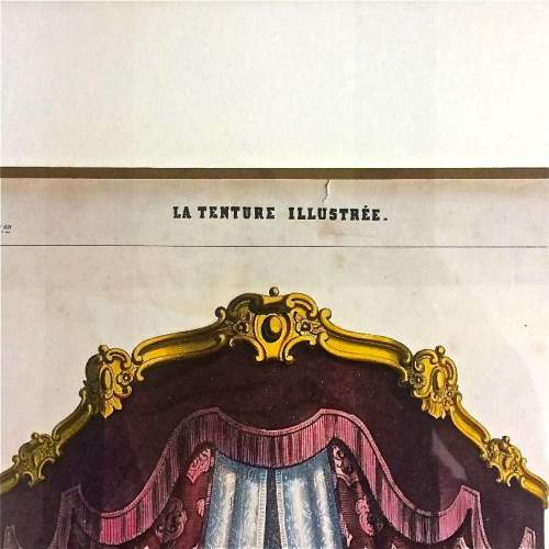 19th Century Furniture and Interior Lithograph by Leopold Marsaux image-3