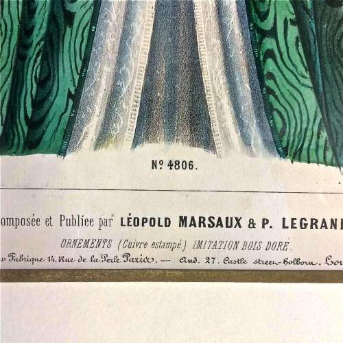 19th Century Furniture and Interior Lithograph by Leopold Marsaux image-4
