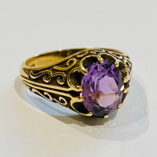 Vintage 9ct Gold and Amethyst Ring image-1