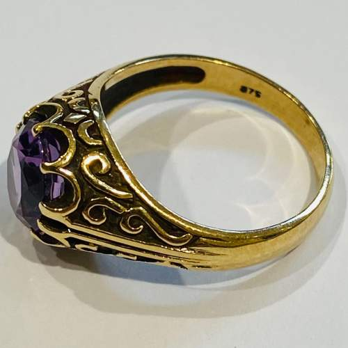 Vintage 9ct Gold and Amethyst Ring image-3