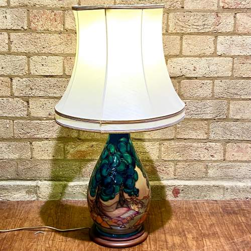Late 20th Century Moorcroft Pottery Table Lamp by Sally Tuffin image-1