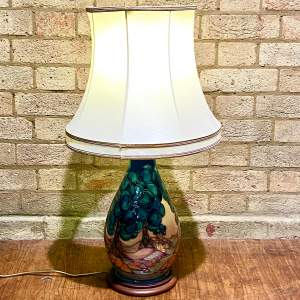 Late 20th Century Moorcroft Pottery Table Lamp by Sally Tuffin