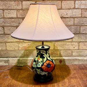 Late 20th Century Moorcroft Pottery Table Lamp