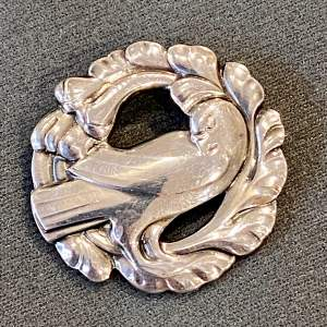 Georg Jensen Silver Dove Brooch