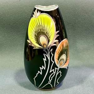 Friedrich Deusch Yellow and Orange Overlay Flower Vase