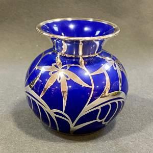 Friedrich Spahr Blue Furstenberg Overlay Vase